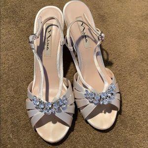 Nina size 8 wedding wedges shoes